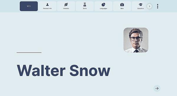 Web-glider website template made by Kickresume website builder